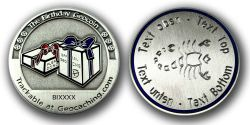 The Birthday Geocoin with your Zodiac Sign and Text