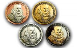 Piet Heyn Geocoin Collector SET (4 COINS)