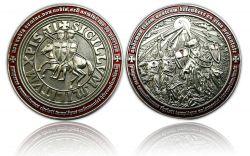Templar MMXI Geocoin (II) Antik Silber