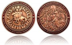 Templar MMXI Geocoin (II) Antique Copper