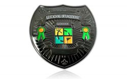 Geocaching Ortungsdienst Badge Black Nickel