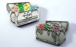 Easter Tradi Geocoin Antique Silver
