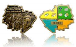 Donnersberg Geocoin Antik Gold