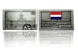 Geocacher's World Geocoin -NETHERLANDS- Antik Silber
