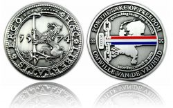 Haec Libertatis Ergo Geocoin Antik Silber