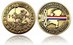 Haec Libertatis Ergo Geocoin Antik Gold