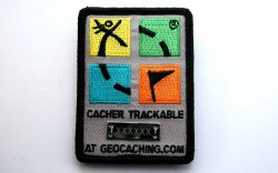 Trackbarer Geocaching Patch