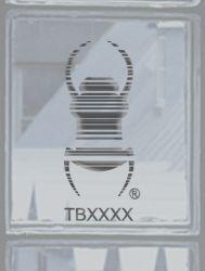 Groundspeak Travelbug® Aufkleber SILBER, konturgeschnitten