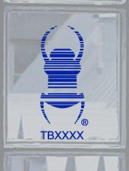 Groundspeak Travelbug® Aufkleber BLAU, konturgeschnitten