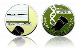 The Micro Coin - Seek the Micro Poliertes Silber