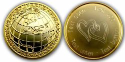 My World Geocoin -HEARTS- with individual engraving text