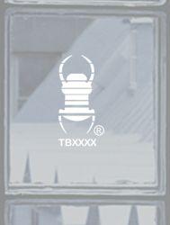 kleiner Groundspeak Travelbug® Aufkleber WEiSS, konturgeschn.