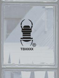 kleiner Groundspeak Travelbug® Aufkleber SCHWARZ, konturgeschn.