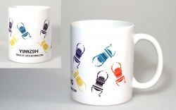 Travelbug® Geocaching Tasse, bunt