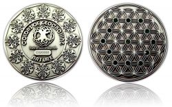 The Colors of Geocaching Geocoin - NATURE - Antik Silber