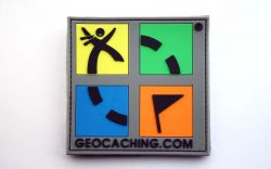 Farbiger Original Geocaching.com Kunststoff Patch
