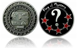 King of Mystery Geocoin Antik Silber