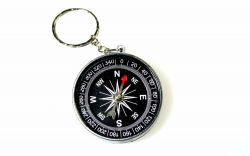 small pocket compass with key ring