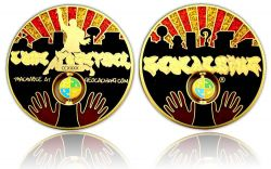 Come Together 2011 Geocoin Satin Gold