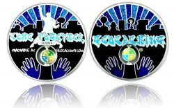 Come Together 2011 Geocoin Satin Silber