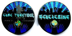 Come Together 2011 Geocoin Black Nickel BLUE XLE 75