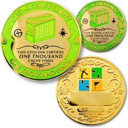 1000 Finds Geo Achievement Award Set incl. Pin