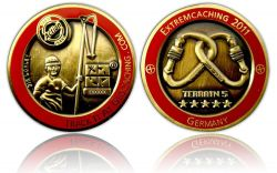 Extremcaching 2011 Geocoin Antique Gold