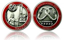 Extremcaching 2011 Geocoin Antique Silber