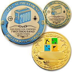 2000 Finds Geo Achievement Award Set incl. Pin
