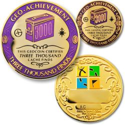 3000 Finds Geo Achievement Award Set incl. Pin