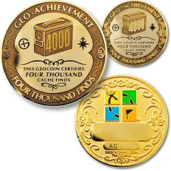 4000 Finds Geo Achievement Award Set incl. Pin