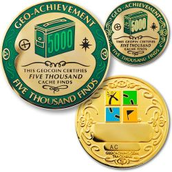 5000 Finds Geo Achievement Award Set incl. Pin