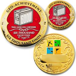 6000 Finds Geo Achievement Award Set incl. Pin