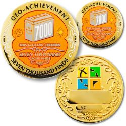 7000 Finds Geo Achievement Award Set incl. Pin