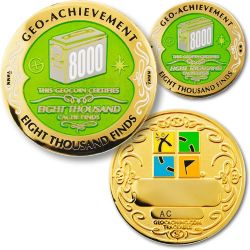 8000 Finds Geo Achievement Award Set incl. Pin
