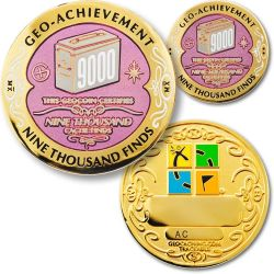 9000 Finds Geo Achievement Award Set incl. Pin