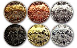 Machu Picchu Geocoin Sammler SET (6 COINS)