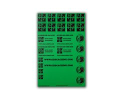 original Geocaching.com sticker sheet green