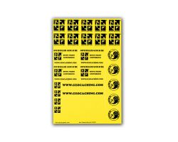 original Geocaching.com sticker sheet yellow