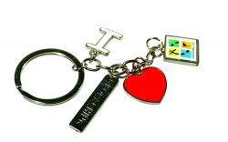 I Love Geocaching Pendant Key