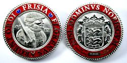Frisia Geocoin Poliertes Silber XLE 75