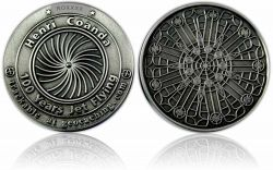 100 Years Jet Flying Geocoin Antik Silber