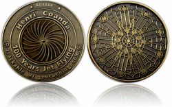 100 Years Jet Flying Geocoin Antik Gold