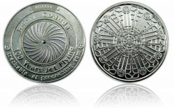 100 Years Jet Flying Geocoin Polished Silver XLE