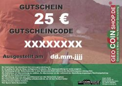 Gift Certificate 25 Euro
