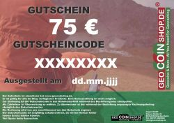 Gift Certificate 75 Euro