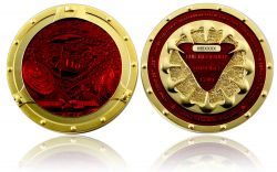 Bermuda Triangle Geocoin Satin Gold