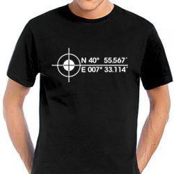 Geocaching Koordinaten T-Shirt in verschiedenen Farben