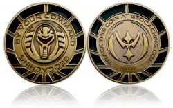 By Your Command Geocoin Antik Gold Black