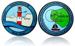 Lighthouse (Leuchtturm) Geocoin Black Nickel